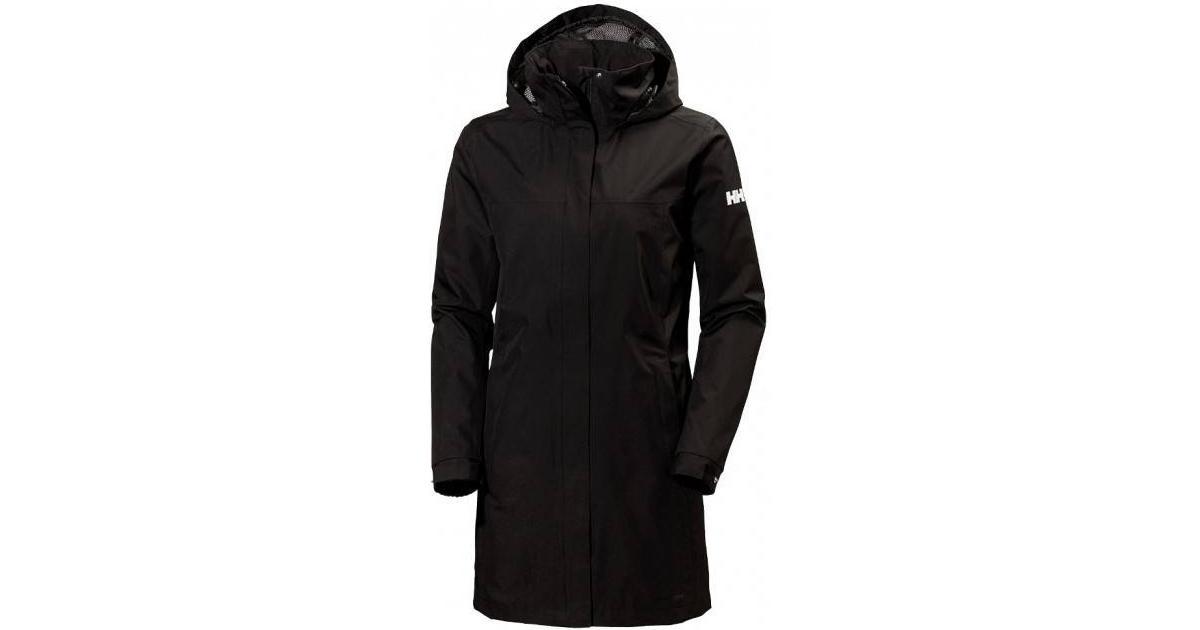 helly hansen aden raincoat black se priser 1 butikker. Black Bedroom Furniture Sets. Home Design Ideas