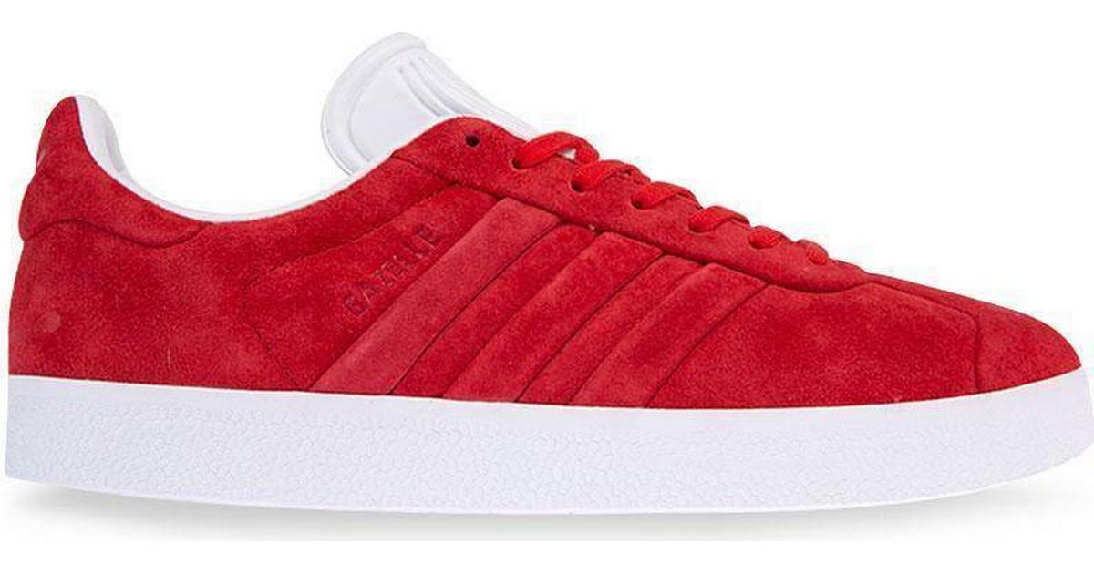 wholesale price nice shoes classic style Adidas Gazelle Stitch & Turn - Red/White - Sammenlign priser & anmeldelser  på PriceRunner Danmark