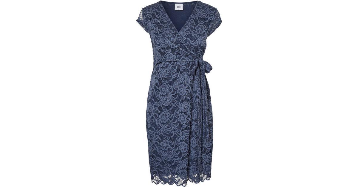 Mama.licious Lace Dress BlueVintage Indigo (20008990) Sammenlign priser & anmeldelser på PriceRunner Danmark