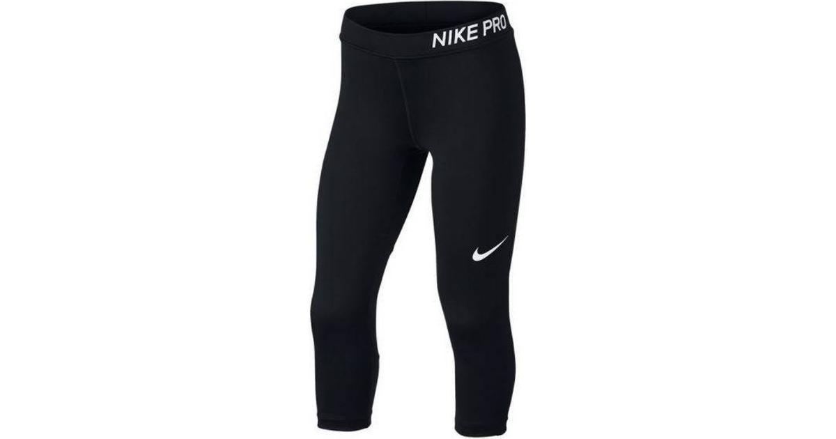 Nike Pro Capri Tights Girls BlackBlackBlackWhite