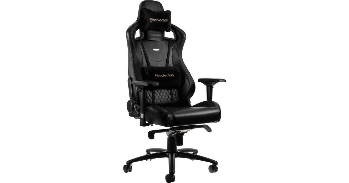 Enjoyable Noblechairs Epic Real Leather Gaming Chair Black Inzonedesignstudio Interior Chair Design Inzonedesignstudiocom