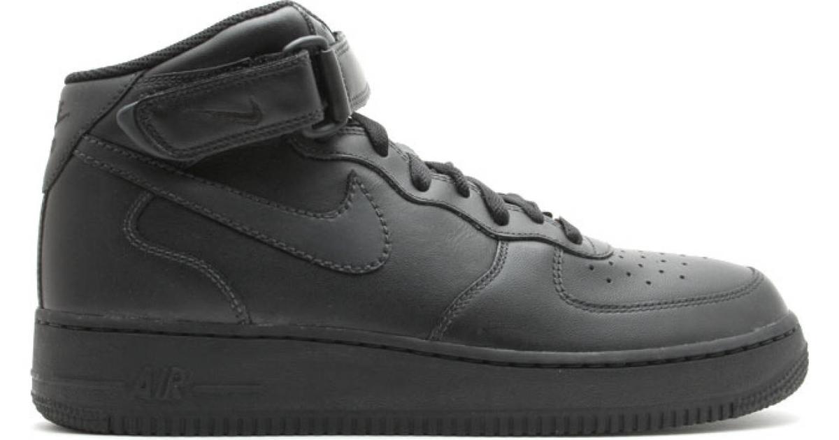 Nike Air Force 1 Mid 07 BlackBlackBlack �?Se priser hos os »