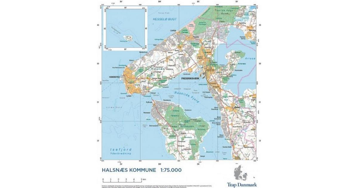 Bornholm 1 50 000 Vaegkort Nordisk Korthandel Nordisk Korthandel