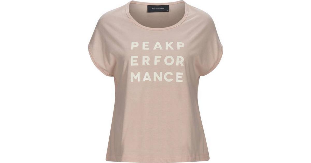 Peak Performance Ground Cap T shirt Pink Champagne Sammenlign priser & anmeldelser på PriceRunner Danmark