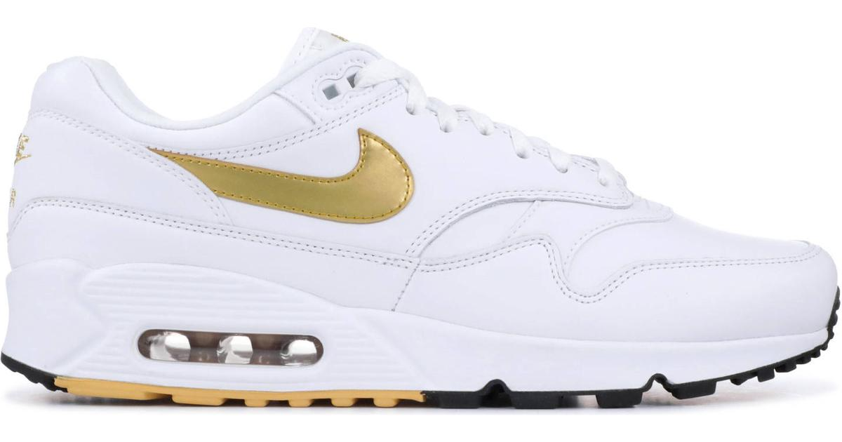 Herre Nike Air Max 90 Essential SortMetallic GuldHvid
