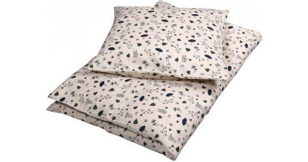 Picture of: Filibabba Bedlinen Junior Forest Floor Blue 100x140cm Se Priser Nu