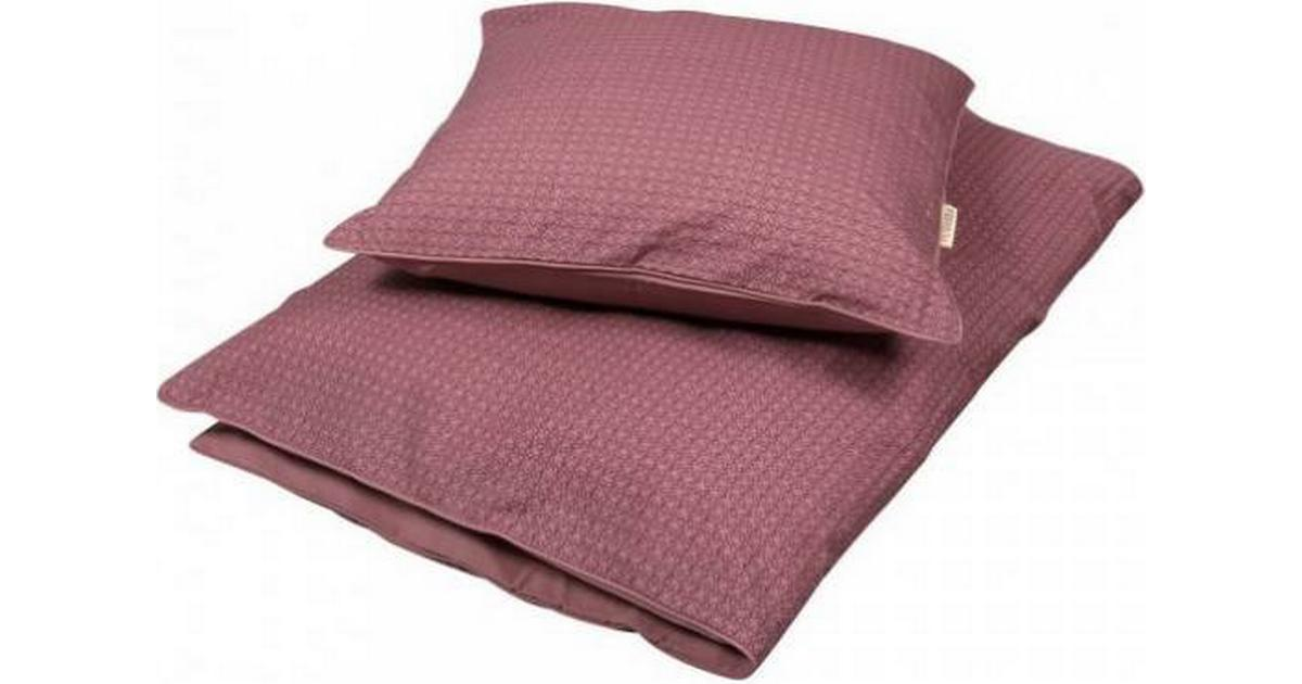 Picture of: Filibabba Bedlinen Baby Leafed Dusty Rose 70x100cm Se Priser Hos Os
