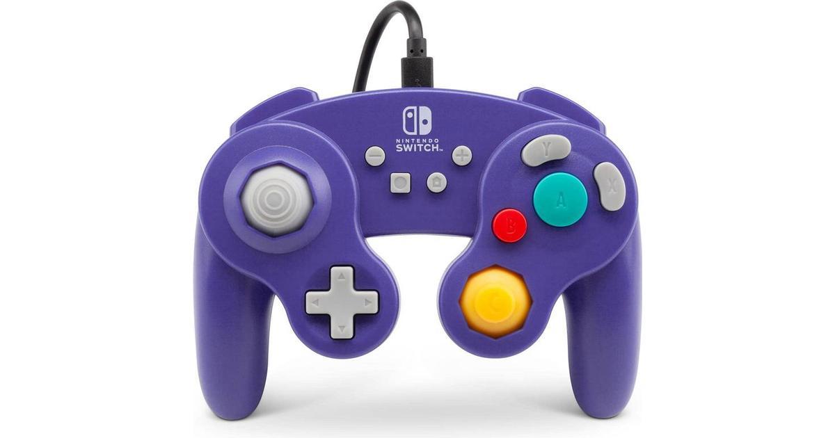 PowerA Wired Controller GameCube Style - Purple (Nintendo Switch) -  Sammenlign priser & anmeldelser på PriceRunner Danmark