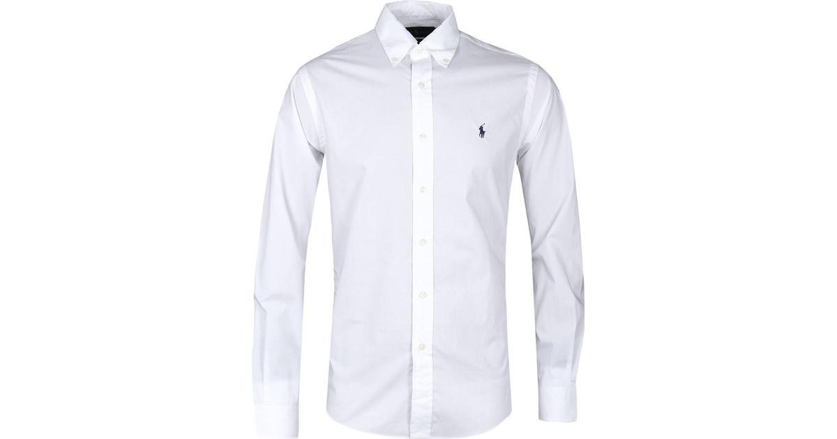 Polo Ralph Lauren Poplin Shirt White Sammenlign priser & anmeldelser på PriceRunner Danmark