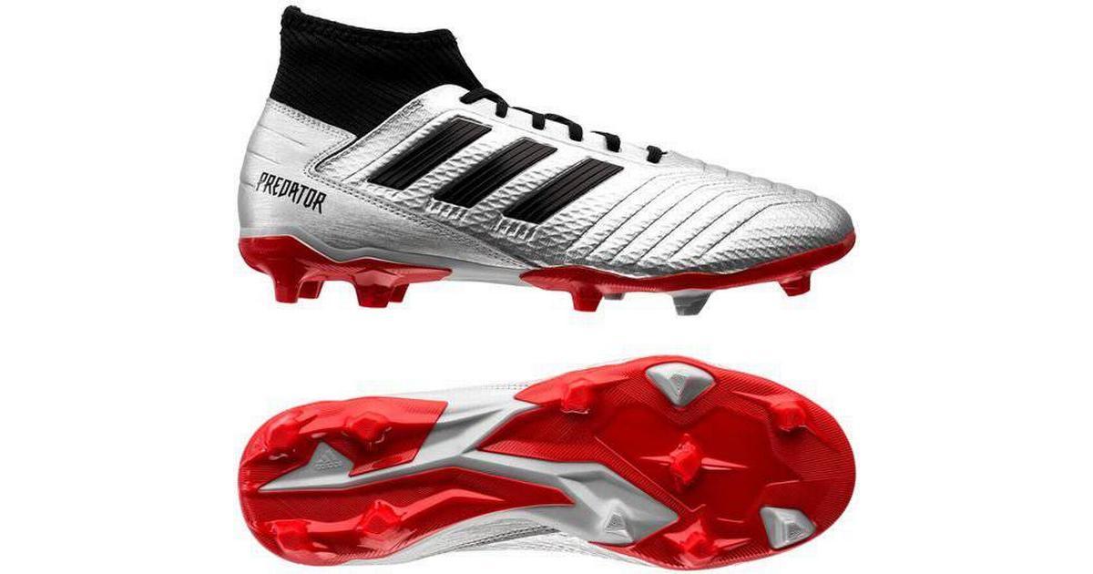 Adidas Predator 19+ FG Firm Ground Sølv Sort Fodboldsko