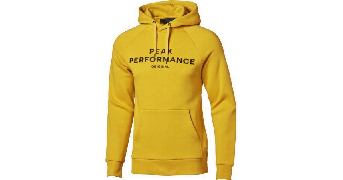 Peak Performance Original Hoodie Yellow Flow Sammenlign priser & anmeldelser på PriceRunner Danmark