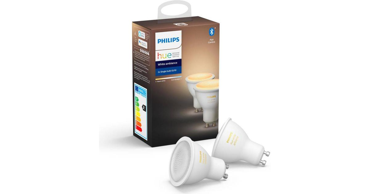 Philips Hue White Ambience LED Lamps 5W GU10 2 pack