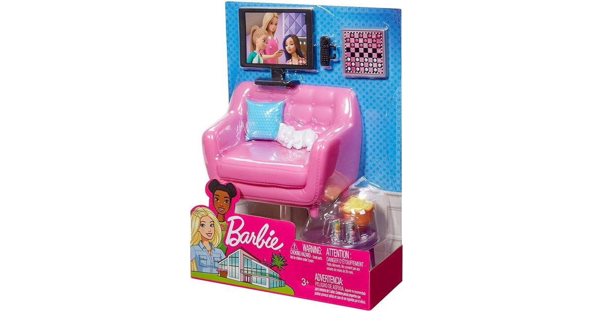 Picture of: Barbie Tv Sofa Accessories Se Pris 5 Butikker Hos Pricerunner