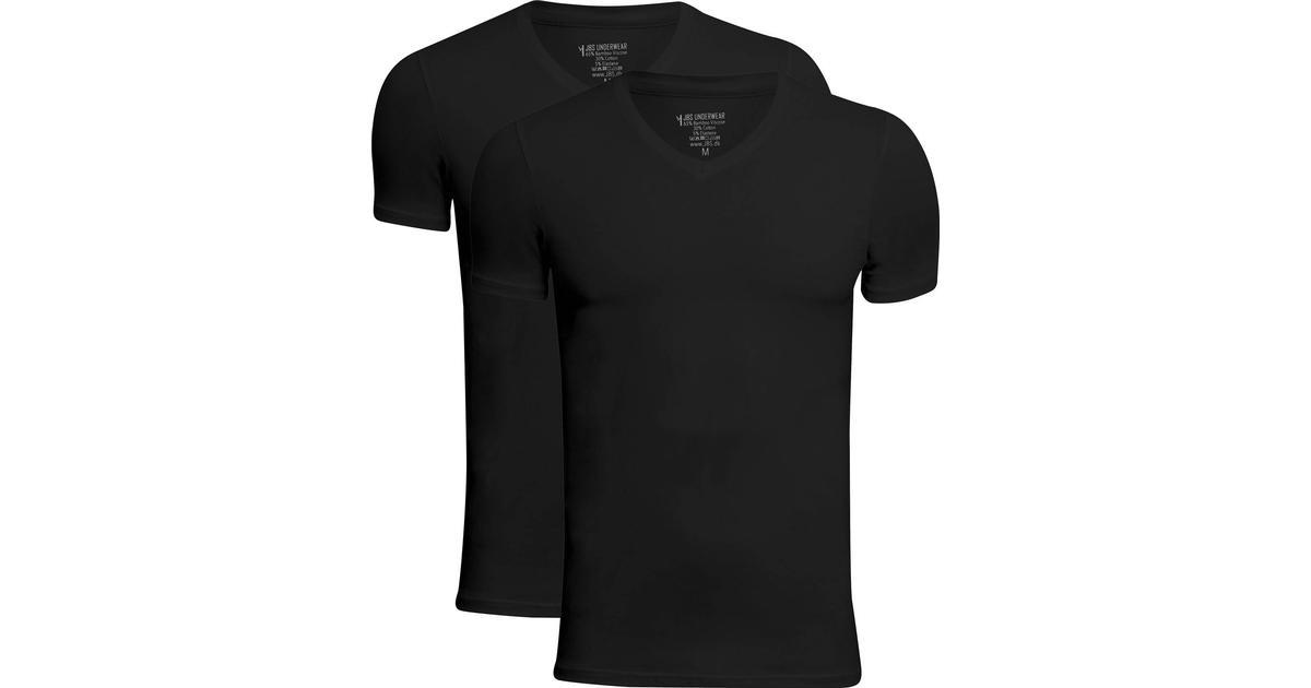 JBS V Neck Bamboo T shirt 2 pack Black