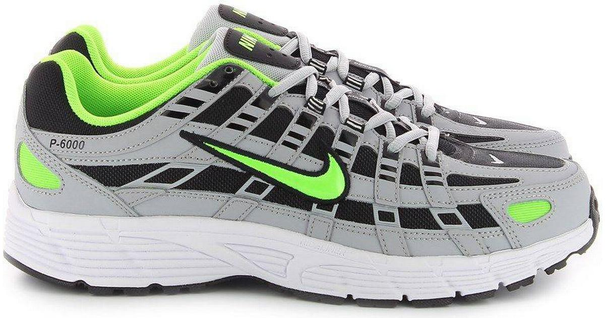 Nike P 6000 M Wolf GreyBlackWhiteElectric Green