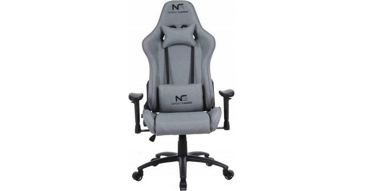 Nordic Racer Fabric Gaming Chair Grey