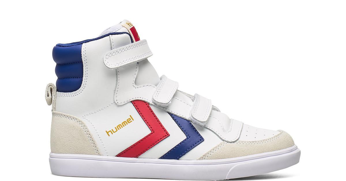 Hummel Kid's Stadil Jr Leather High White