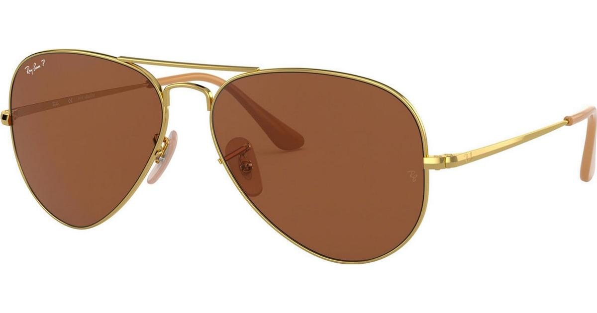 ray-ban aviator gradient polariserede brune solbriller