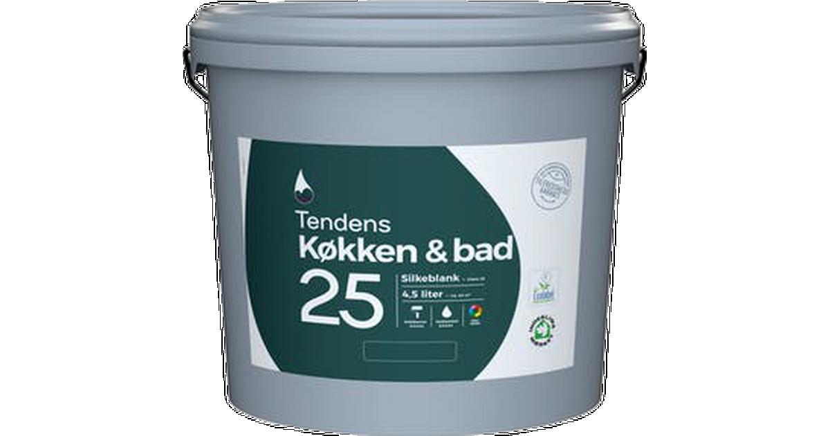Picture of: Tendens Kitchen And Bath Vaegmaling Hvid 4 5l Se Priser Hos Os