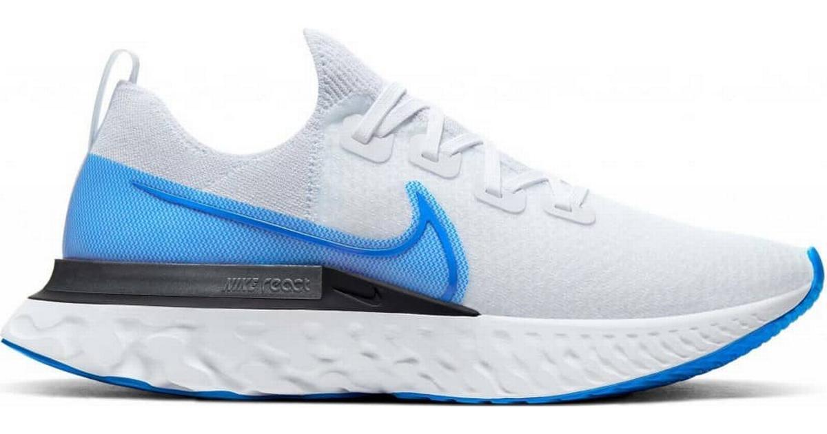 Nike React Infinity Run Flyknit M True WhiteWhitePure PlatinumPhoto Blue Sammenlign priser & anmeldelser på PriceRunner Danmark