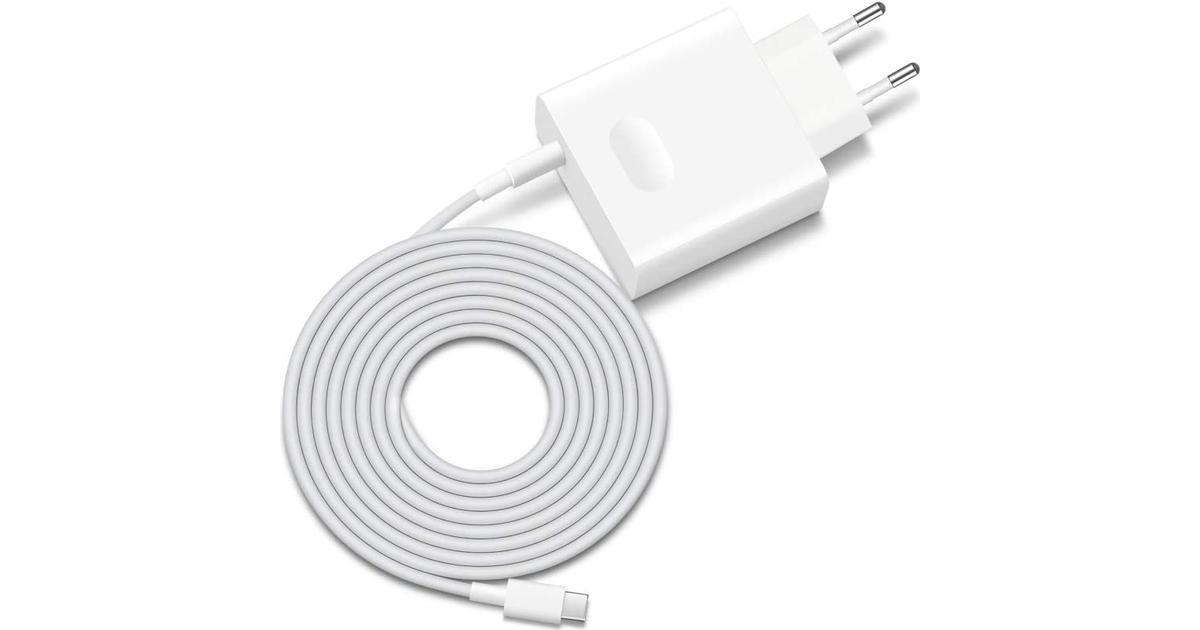 Original Huawei Pro Charger m. USB C 65W Hvid   Oplader