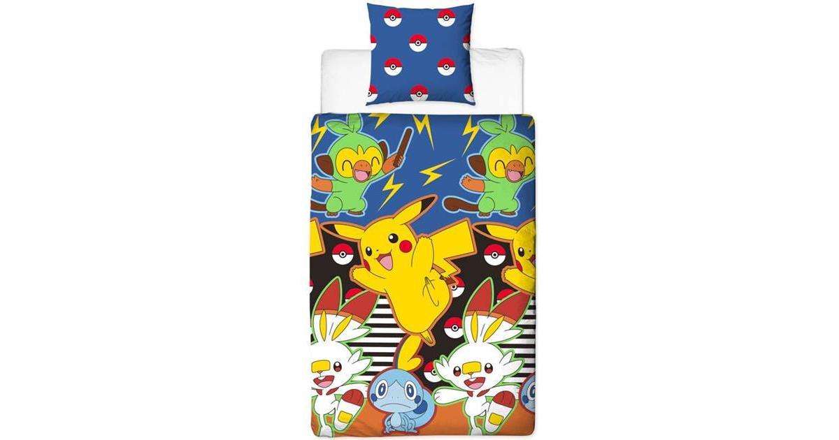 Picture of: Pokemon Sengetoj Motiv Pa Den Ene Side140x200cm Se Priser Hos Os