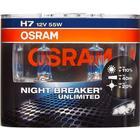 Osram Nightbreaker Unlimited H7 477 Bulbs Twin Box