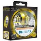 Philips ColorVision Gul forlygtepære 12342CVPYS2, H4, 60 W, Tågelys 3350 K