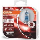 Osram Night Breaker Laser H4 pærer +150% mere lys (2 stk) pakke