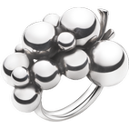 Georg Jensen Moonlight Grapes Large Ring - Silver