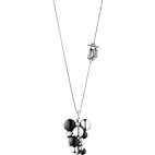 Georg Jensen Moonlight Grapes Large Necklace - Silver/Onyx