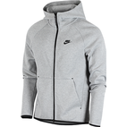 Nike Tech Fleece Full Zip Hoodie Men - Dark Grey Heather/Black
