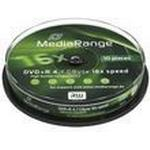 DVD-disketter MediaRange DVD+R 4.7GB 16x Spindle 10-Pack