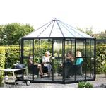 Sekskantet drivhus Drivhuse Vitavia Hera 9000 9m² Aluminium Glas