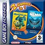2 Games in 1: Monsters Inc & Finding Nemo