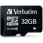 Micro sd kort 32 gb class 10 Hukommelseskort Verbatim MicroSDHC Class 10 32GB