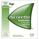 Nikotintyggegummi Nicorette Freshmint 2mg 210stk