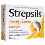 Ondt i halsen Strepsils Honning & Citron 24stk