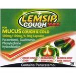 Lemsip Cough Max For Mucus Cough & Cold 500mg 16stk