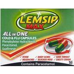 Guaifenesin Håndkøbsmedicin Lemsip Max All In One Cold & Flu 500mg 16stk