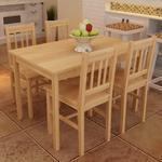 Haslev 4 spisebord Møbler vidaXL 241220 Spisebordssæt