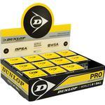 Squashbolde - Dobbelt gult Dunlop Pro XX 12-pack
