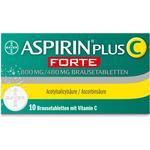 Brusetablet Håndkøbsmedicin Aspirin plus C forte Brausetabletten 10stk