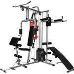 vidaXL Multi-functional Home Gym With 1 Boxing Bag