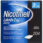 Nicotinell Lakrids 2mg 204stk