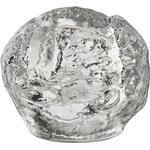Glas Brugskunst Kosta Boda Snowball 7cm Fyrfadsstage
