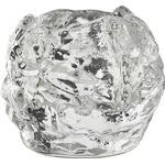 Glas Brugskunst Kosta Boda Snebold 6cm Fyrfadsstage