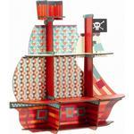 Pirater Børneværelse Djeco Hylde Piratskib