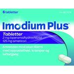 Oppustethed Imodium Plus 2mg/125mg 6stk