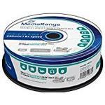 DVD-disketter MediaRange DVD+R 8.5GB 8x Spindle 25-Pack Wide Inkjet